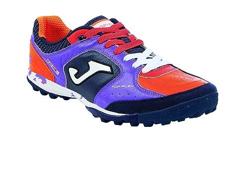 Zapatillas de fútbol Sala Joma Top Flex 619 Viola-Nero-Arancio Turf: Amazon.es: Zapatos y complementos