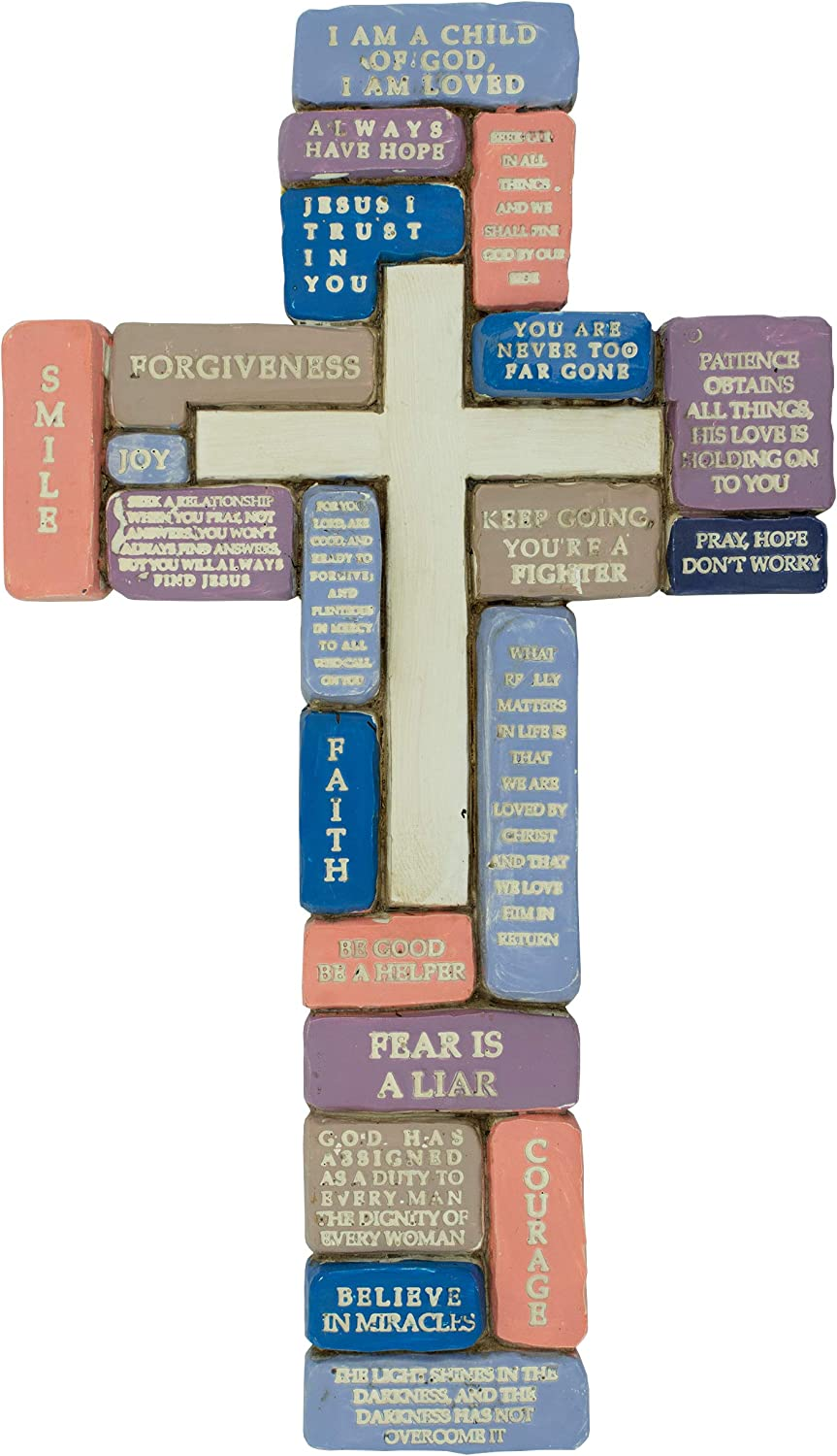 Inspirational Resin Wall Cross | Encouraging Words for Teenage Girls | Great Gift for 8th Grade Graduation, Confirmation, New School Year | Christian Home Decor