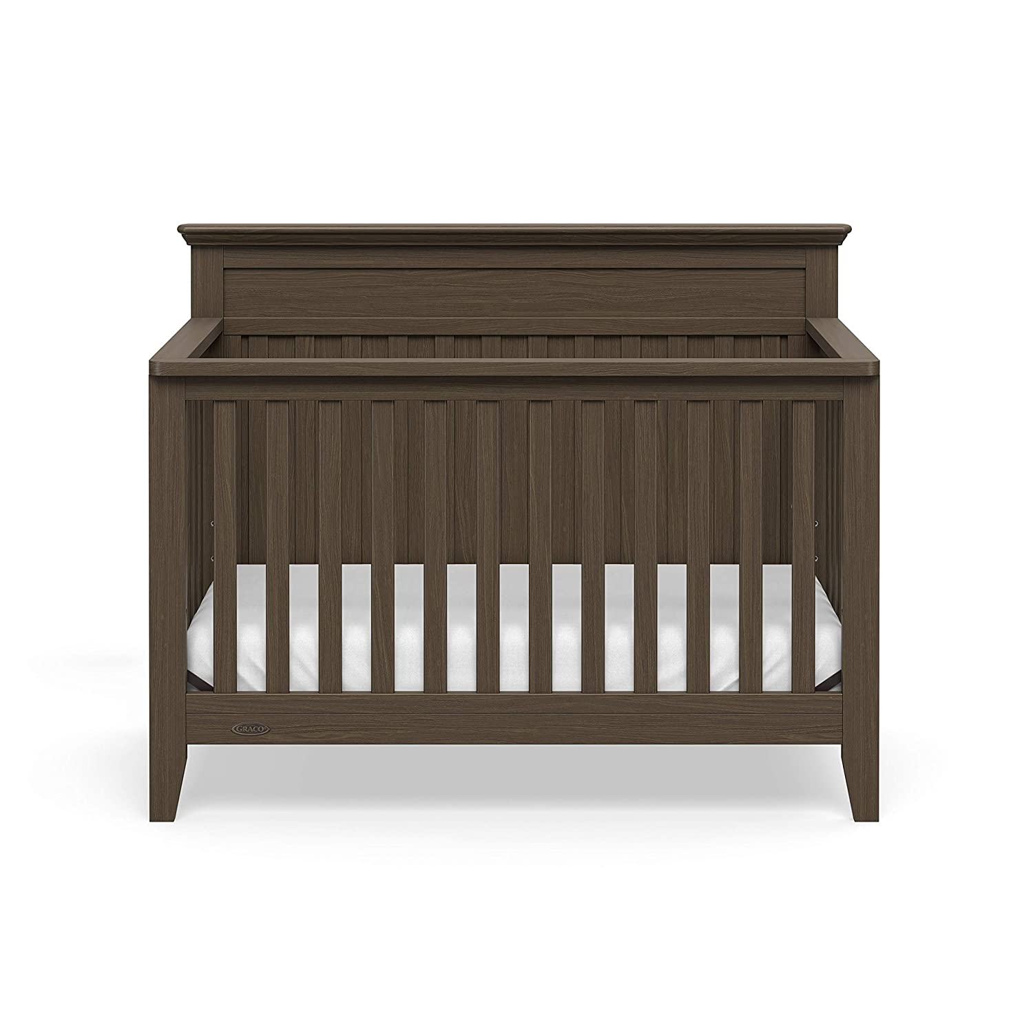 3-Position Adjustable Mattress Support Base Easily Converts to Toddler Bed Rustic Style Espresso Daybed Graco Georgia 4-in-1 Convertible Crib and Full-Size Bed