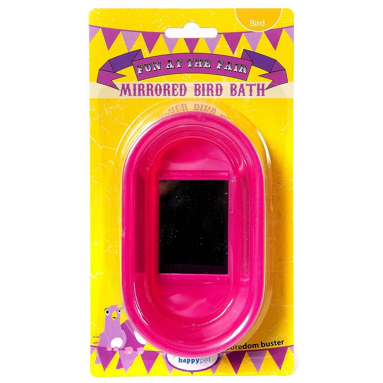 Happy Pet Products Fun At The Fair Mirrored Bird Bath (Assorted Colours) UTVP3434_1