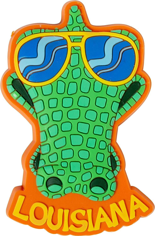 Louisiana Sunglasses Alligator PVC Souvenir Refrigerator Magnet