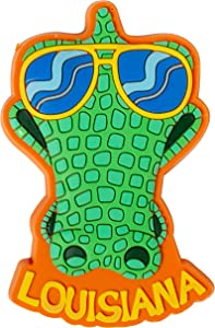 Louisiana Sunglasses Alligator PVC Souvenir Refrigerator Magnet