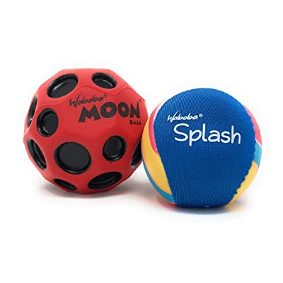 Waboba Balls 2 Pack Bundle | Water Bouncing Splash and Moonball | Perfect Water Ball for Pools and Lake Toys and Beach Ball| (Assorted Colrors): Toys & Games