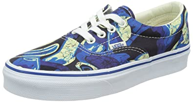 1690516a Vans Unisex Era Doren Blue Print Sneakers Low Top Skate Shoes