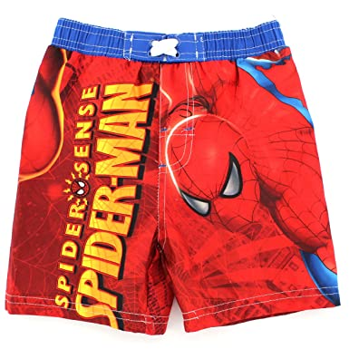 ab6bb4d792500 Amazon.com: Spider-Man Toddler Swim Trunks (3T): Clothing