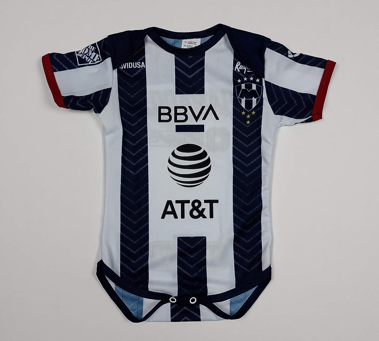 Soccer Rayados De Monterrey Baby Jersey Baby Jumpsuit Bodysuit Futbol Liga MX