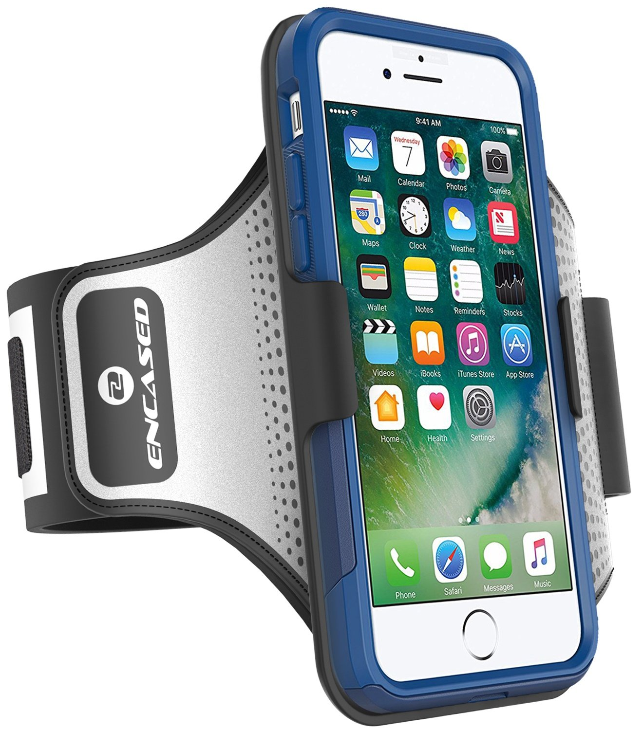 Encased Sweat-Resistant Workout Armband for iPhone 7 Otterbox Commuter Series Case (case not Included)