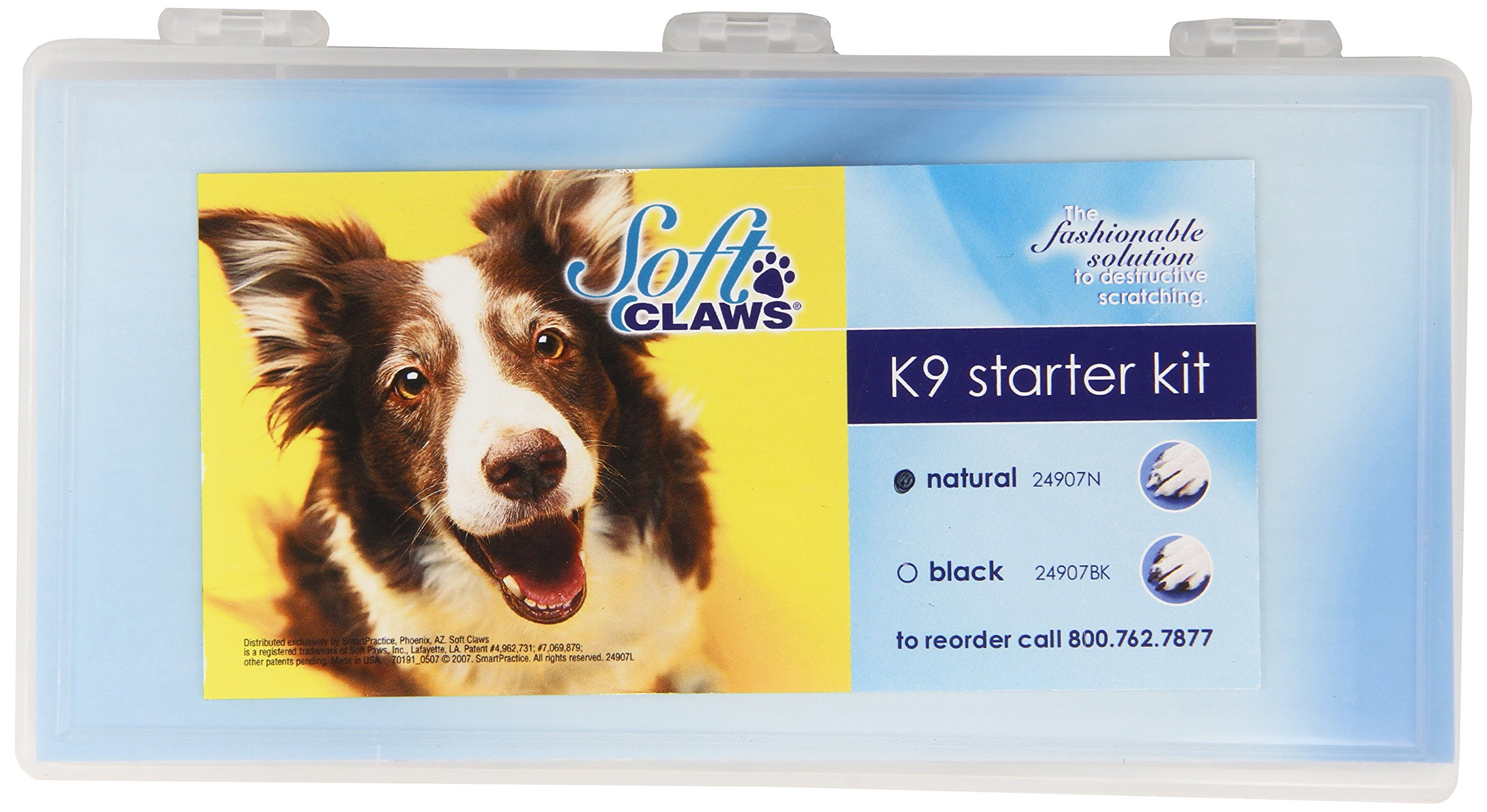 Canine Soft Claws Cat Nail Caps Starter Kit, Natural