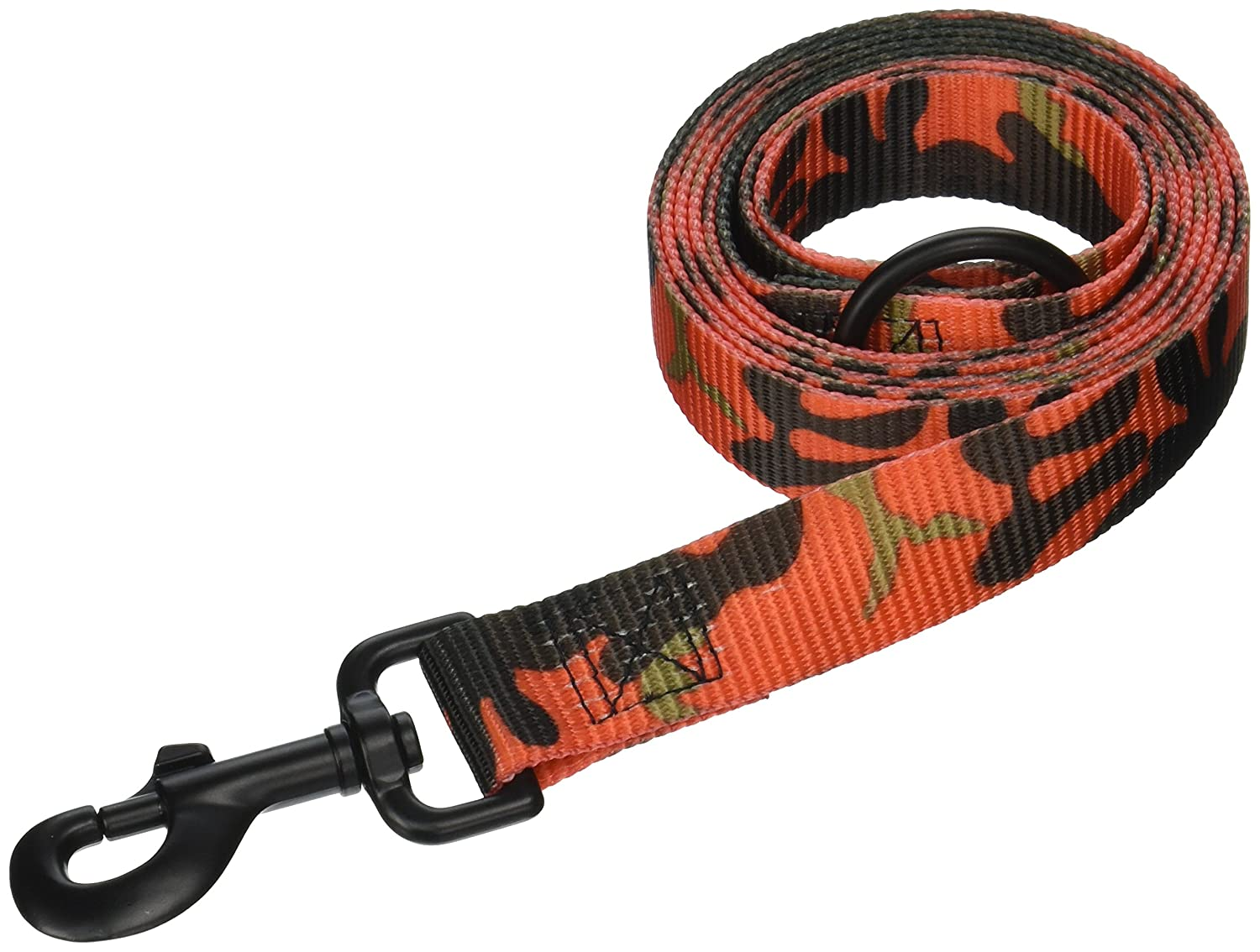 OmniPet 149NM16-OR 1  Bravo Camouflage 2-Ply Nylon Dog Leads, 6