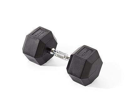 York Fitness, Pesas Hexagonales De Caucho, Negro, 2 X 12.5Kg