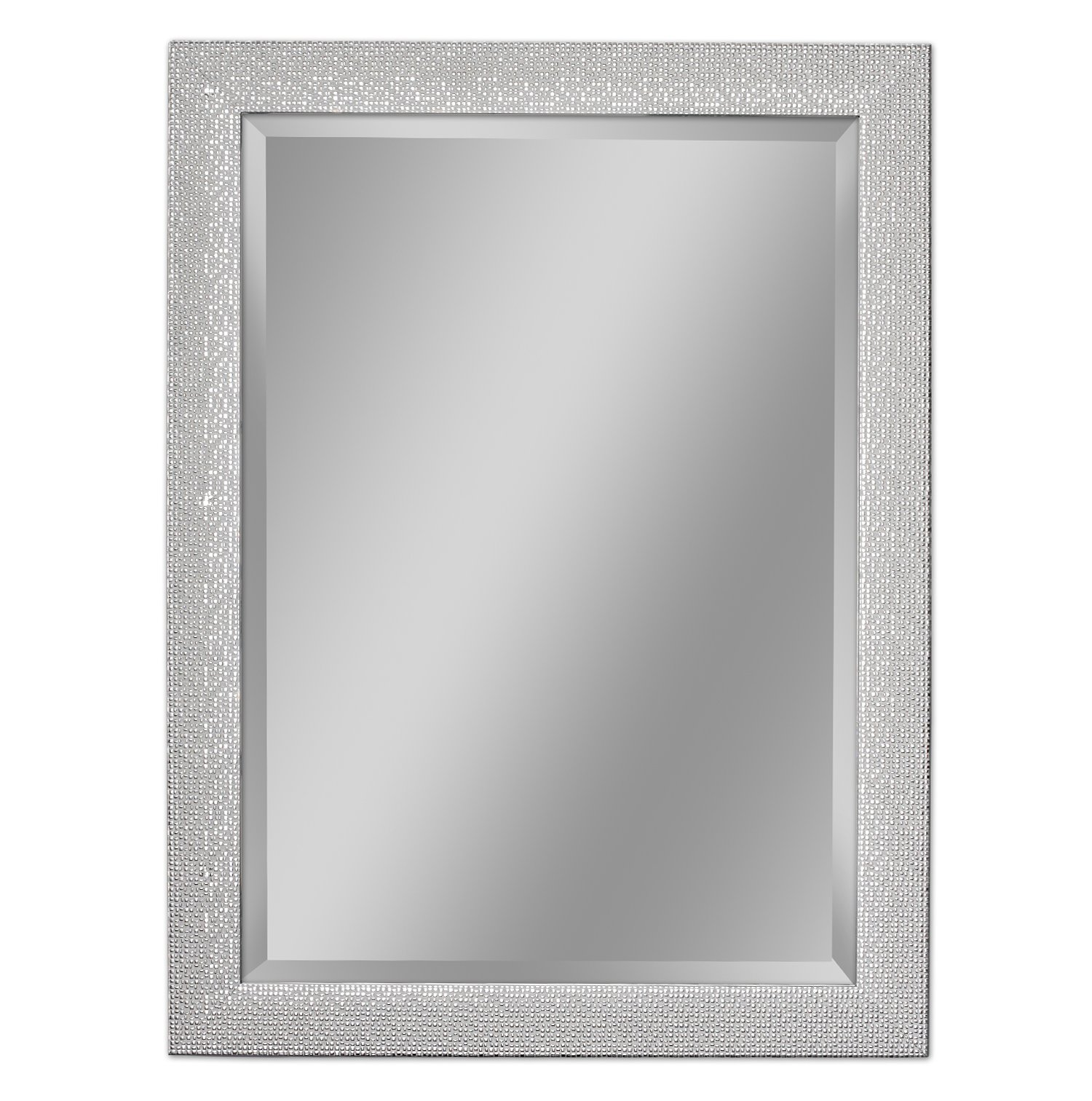 Headwest 8015 Squares Wall Mirror, White and Chrome