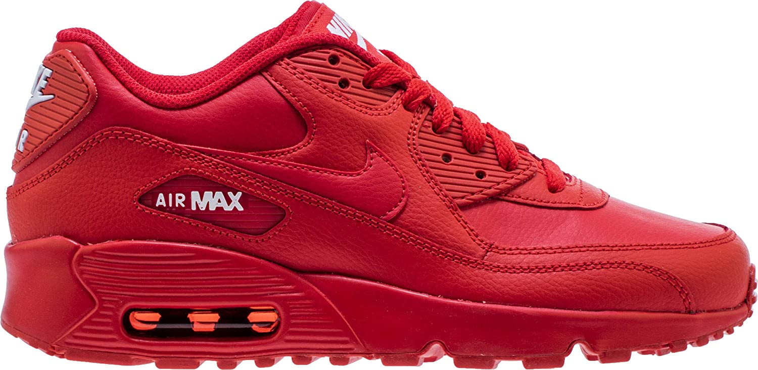 cheap for discount a9a71 0853e Amazon.com   Nike 833412-606  Big Kid s Air Max 90 University Red White GS  Sneakers   Running
