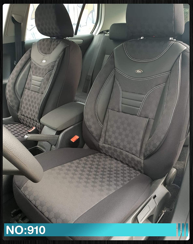 910 Ma/ß Sitzbez/üge kompatibel mit Ford Focus 3 Fahrer /& Beifahrer ab BJ 2010-2018 Farbnummer