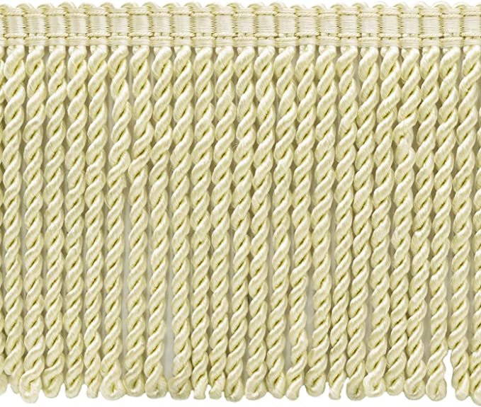 # BFS6 Color K13 Basic Trim Collection 81 Ft  25 Meter 6 Inch Long Light Rose Bullion Fringe Trim 27 Yard Package