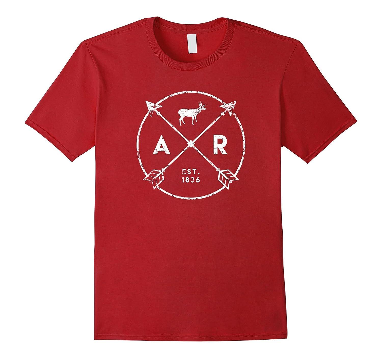 Arkansas Adventure Shirt Est 1836 Deer Arrow State Gift-TH