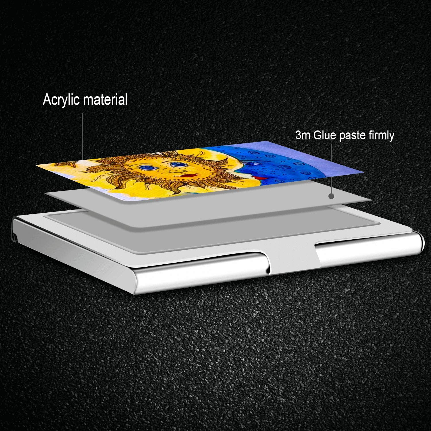Professional Business Card,Stainless Steel Wallet case Credit Card ID Card Holder Mandala
