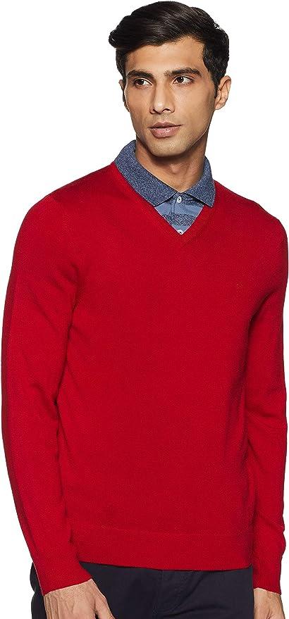 Calvin Klein 卡尔文克莱因 CK 美利奴羊毛混纺 V领 男式羊毛衫 S码3.3折$29.99 海淘转运到手约¥235