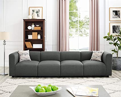Amazon.com: 4 Seats Modular Sectional Sofas, Steel Grey ...