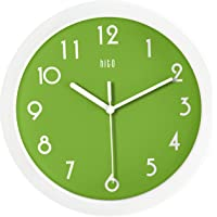 hito Modern Colorful Silent Non-Ticking Wall Clock- 10 Inches