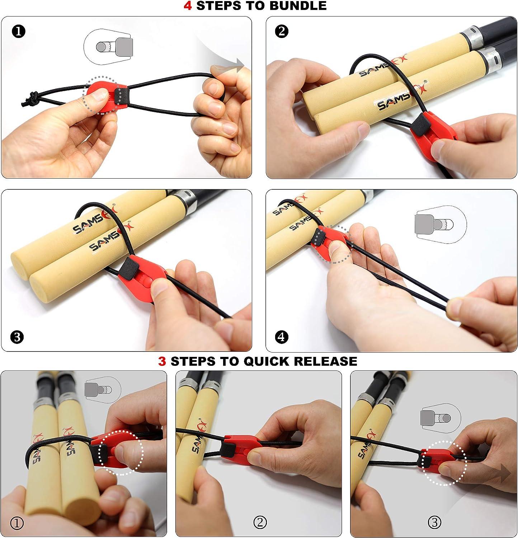 2x Reusable Fishing Rod Tie Holder Strap Fastener Ties Fishing Tools FREE SHIP