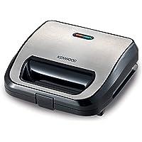 Kenwood 3 in 1 Sandwich Maker (Sandwich, grill/griddle, waffle) Black/Metal SMM02.000SI