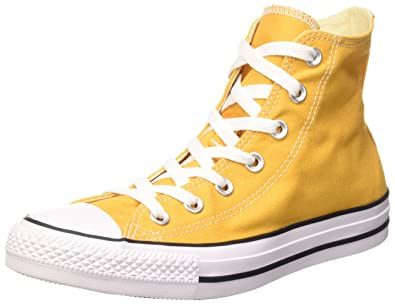 converse femme haute jaune