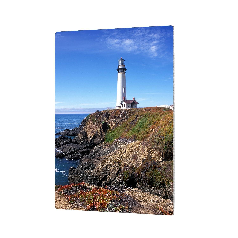 ArtWall Kathy Yates Pigeon Point Lighthouse 2 Artmetalz Aluminum Print 16 by 24