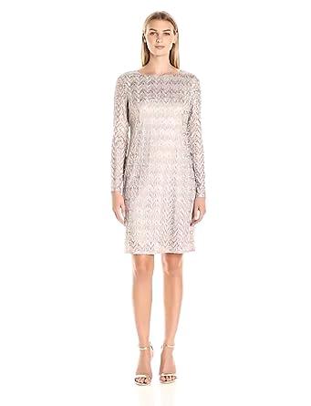 894fd60c Jessica Howard Women's 3/4 Sleeve Midi-Length Sheath Dress, Taupe, 12