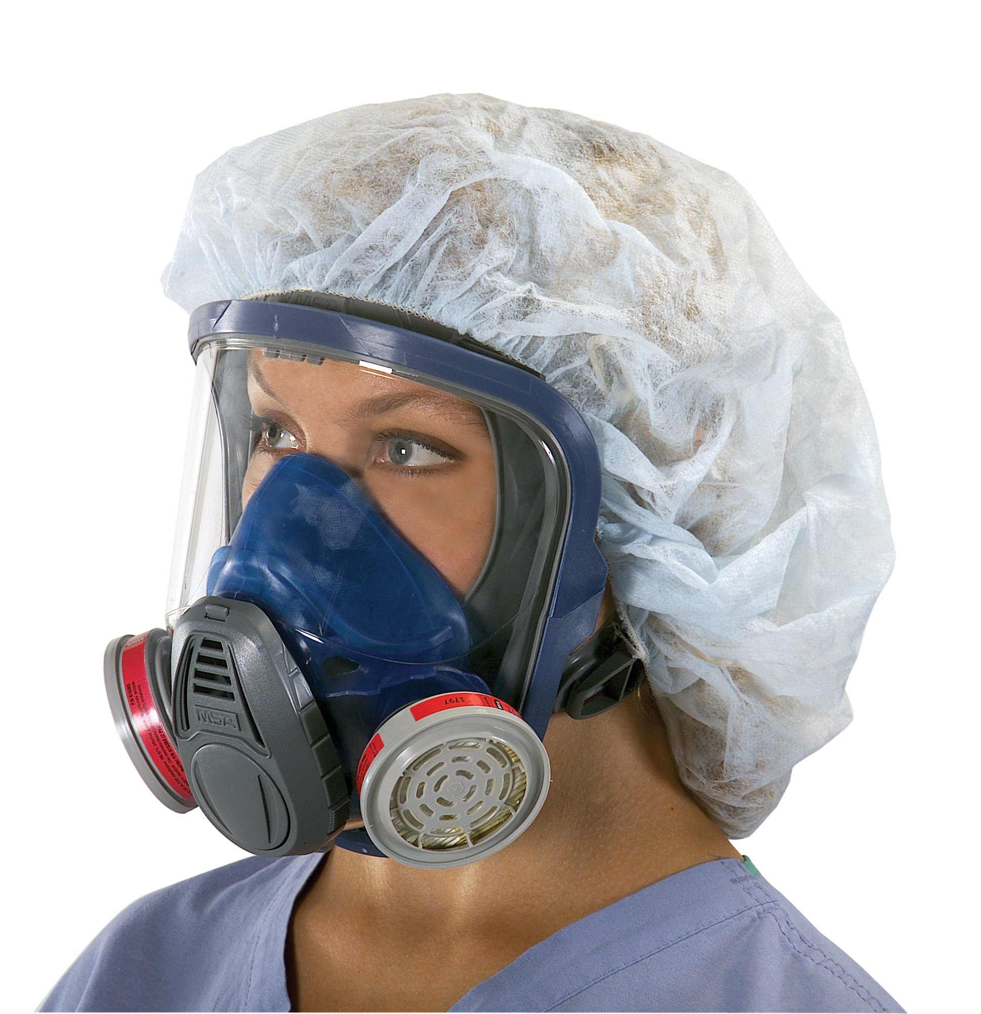 MSA Safety 10028995 Advantage 3200 Full-Facepiece Respirator with Rubber Harness, Medium by MSA