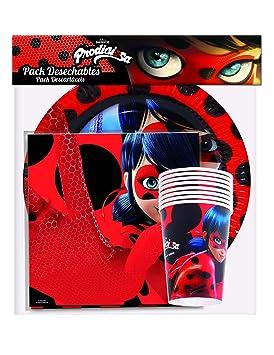 Pack Desechables de Fiesta Ladybug