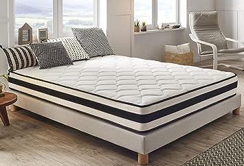 Moonia - Colchón 110 x 180 cm - Colchones de Alta Durabilidad - Colchón Antiacaros - Modelo Maxim: Amazon.es: Hogar