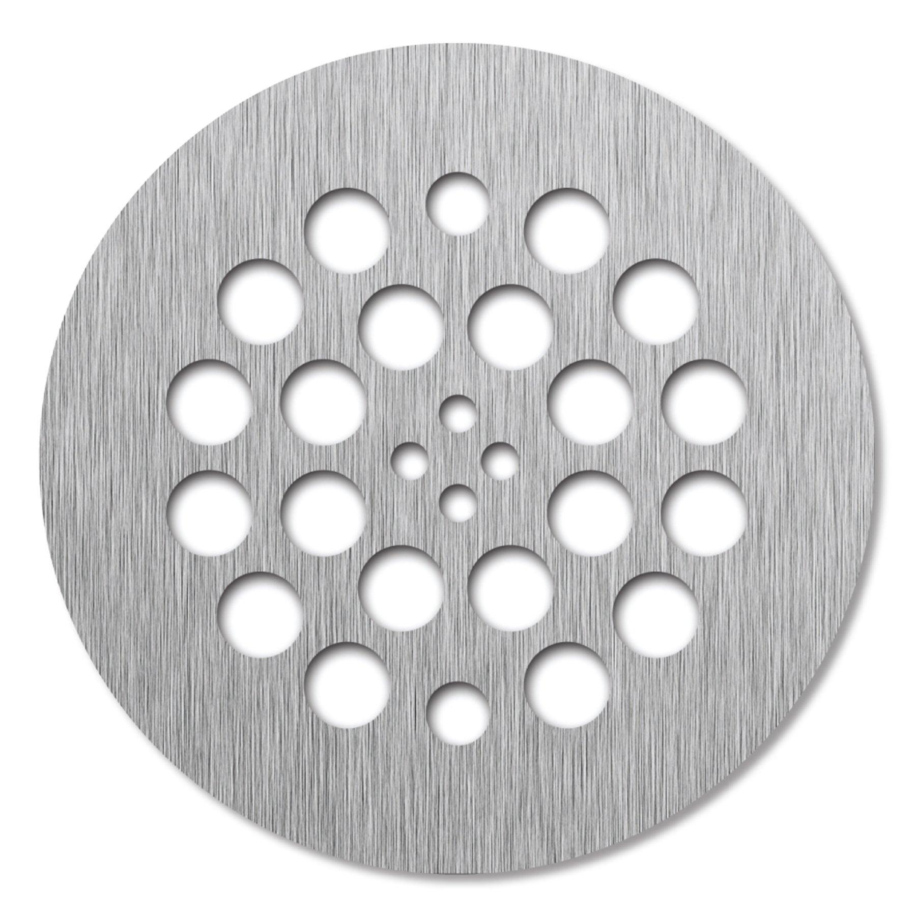 Tile Redi USA DP-RD-BN Drain Shower Drain, 4.25'' D x 4.25'' W, Brushed Nickel by Tile Redi USA