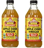 Bragg USDA Organic Raw Apple Cider Vinegar, With the Mother 16 ounces (2Pack)
