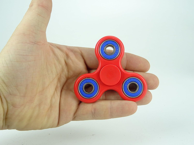 Exclusivo Rojo y Azul Fidget Hand Spinner Reductor de Estr/és Tiempo de Spin 1-3 Minutos Christmas Concepts/® Alivio de Estr/és Autismo