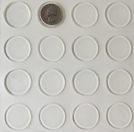 Glass Table Top Bumpers Thin Clear Bumper Pads 1 23 Inch Round