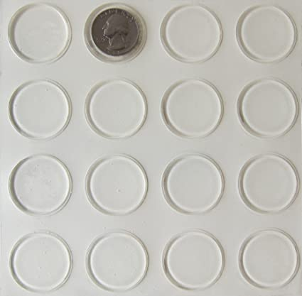 Glass Table Top Bumpers Thin Clear Bumper Pads 123 Inch Round