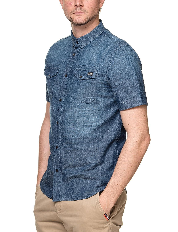 Superdry Mens Dragway Denim Shirt: Amazon.es: Ropa y accesorios