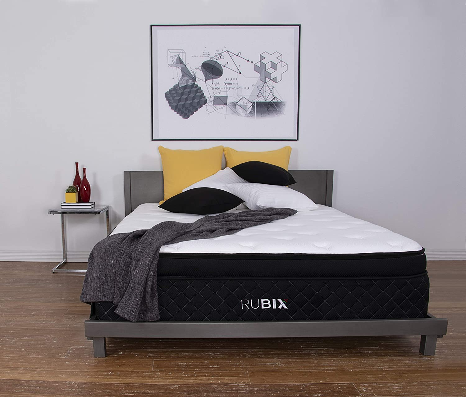 Brooklyn Bedding Rubix 14-Inch Customizable Eurotop Mattress with Energex, Queen