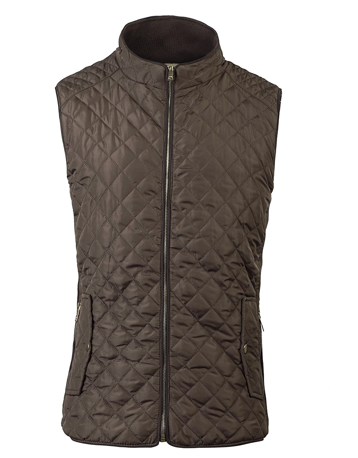 fanhang Women's Lightweight Quilted Zip up Gilet