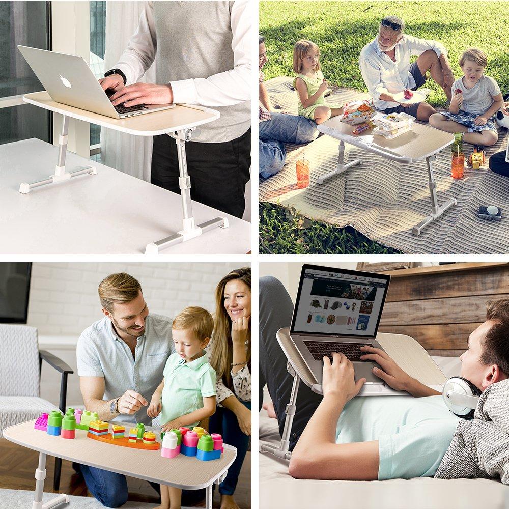 plegable ajustable TaoTronics elevador de escritorio de pie y mesa de ordenador Mesa de ordenador port/átil bandeja de cama sof/á y sof/á madera para cama mesa de regazo