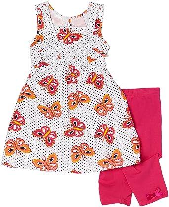 Nannette Little Girls 2 Piece Fashion Pant Set with Jersey Chiffon Pullover