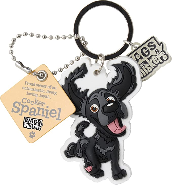 Wags And Whiskers Cocker Spaniel Black Key Chain With Keyring Key Holder 886767110530 Amazon Co Uk Office Products