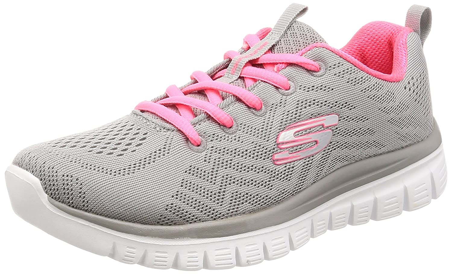 Skechers Women's Graceful-Get Connected Sneaker B076PYJ3J5 6.5 B(M) US|Grey/Charchoal