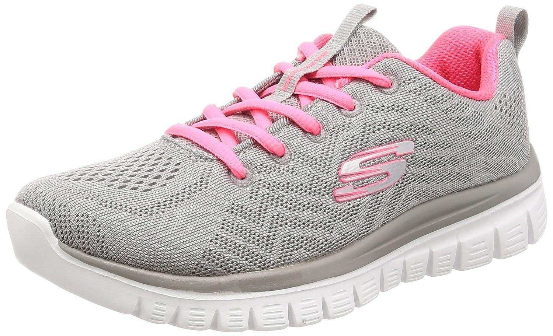 Skechers Graceful-Get Connected, Zapatillas para Mujer Gris (Grey/Coral)