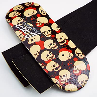 Peoples Republic P-Rep Skulls 34mm Wooden Fingerboard Deck: Toys & Games