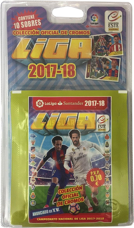 La Liga Santander Blíster con 10 Sobres, edición 2017-2018 (Panini 003379BLIE): Amazon.es: Juguetes y juegos