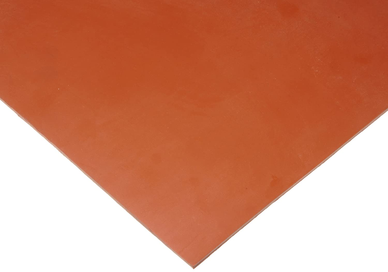 "Silicone Sheet Gasket, Red, 1/16"" Thick, 12"" × 12"" (Pack of 1)"