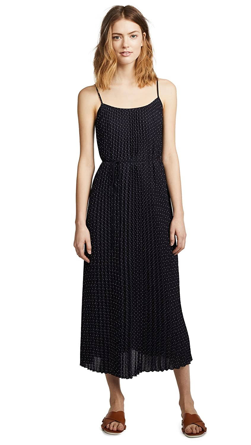 Vince Women's Polka Dot Pleated Cami Dress by Vince