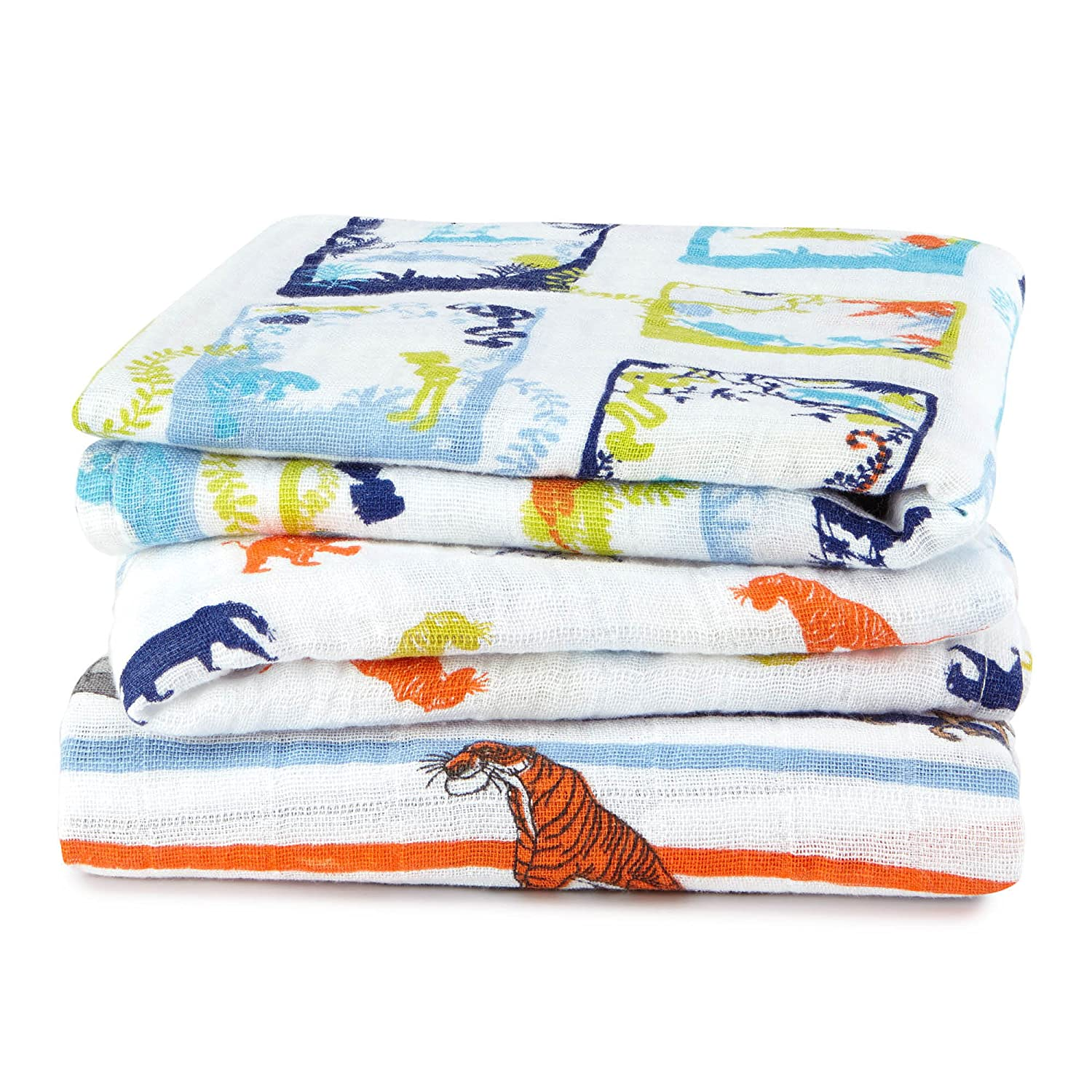 aden + anais –  disn201g Classic Musy Jungle Book, 3 Pack 3Pack
