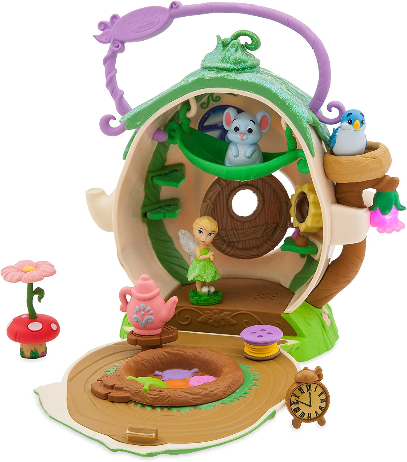 """Disney Store  Animators'  Collection  5/"""" Mini Tinker Bell Doll /& Playset  NEW"""